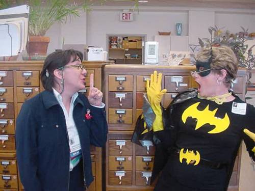 Batgirl and Nancy Pearl